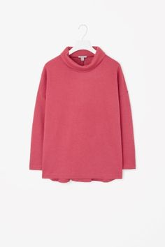 Oversized roll-neck top