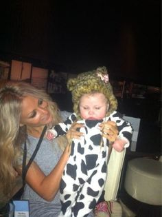 Lou Teasdale and Baby Lux