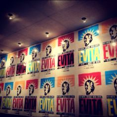 """""""Evita"""" Broadway Show display (outside theater)"""