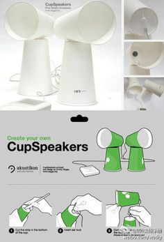 DIY Cup Speakers DIY Projects | UsefulDIY.com on We Heart It - http://weheartit.com/entry/54676642/via/myworldfullofpics