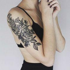 25 Black Rose Tattoo Ideas