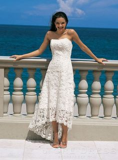 Design Sheath/Column Bateau Ankle-length Appliques Beach Wedding Dresses - Storedress.com on Wanelo