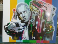 Painting of Eminemstencil artspray paint by AbstractGraffitiShop