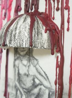 3D Crayon art!!! Umbrella Melted Crayon Art http://www.kidskubby.com/melted-crayon-art-projects/