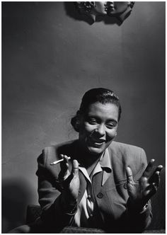 Billie Holiday (1915-1959) - American jazz singer and songwriter. Photo Herman Leonard, 1949