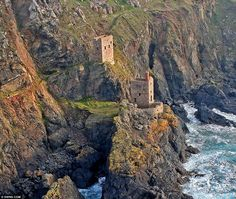 Count House at Botallack, at St Just, Cornwall which has been named as one of the most stunning scenes in the world - it stands on the cliffs of the Crowns Mine - hub of the day-to-day running of the mine in the 1860s.