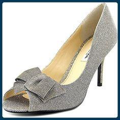Nina Fraser Damen US 7.5 Silber Stöckelschuhe - Sandalen für frauen (*Partner-Link)