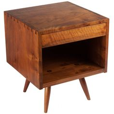 George Nakashima End Table Or Nightstand | From a unique collection of antique and modern night stands at https://www.1stdibs.com/furniture/tables/night-stands/