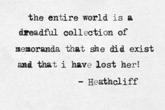 This is a quote from Heathcliff.  After Catherine dies Heathcliff sees reminders of her everywhere he looks.
