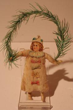 """""""Wattekind""""  antique spun cotton ornament"""