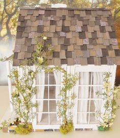 The Little White Cottage Custom Dollhouse by cinderellamoments