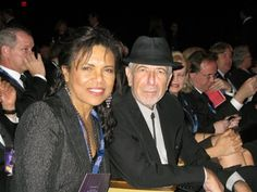 Sharon Robinson with Leonard Cohen at the ceremony for his Liftetime Achievement Grammy Award on January 30, 2010
