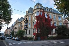 One of the best view of the #apartment houses of #Oslo, #Norway . This is the building located in the West End of Oslo (crossing of the Meltzers gate and the Inkognitogata) .
