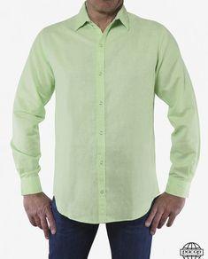 d1168bad09 Chemise Homme Voile de Coton Classique Verte - Norbert. Grossiste  fournisseur ...