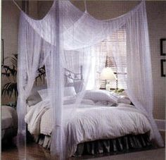 Found from:www.plotos.com There are many reasons to make your own canopy bed. It gives the entire room a comfortable and intimate feel. It's a great way to make it look like you spent some money r…