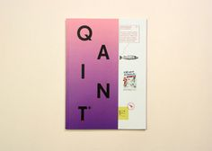 QAINT Magazine by Mayra Monobe, via Behance