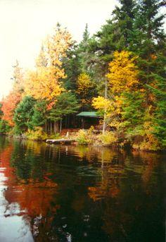 West Canada Wilderness, Adirondacks, NY, Cedar Lake lean-to #3, oct 9, 1989