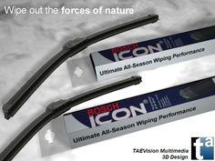 079 - Ref. BoschIcon1 :: 3D Scene BOSCH Automotive Parts - BOSCH Icon Wiper Blades - Windshield Wipers (Snow Ambient)