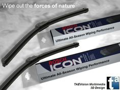 079 - Ref. BoschIcon1 :: 3D Scene BOSCH Automotive Parts - BOSCH Icon Wiper Blades - Windshield Wipers (Snow Ambient)