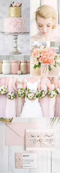 Elegant Ethereal Pink Weddings in Blush Rose and Gold
