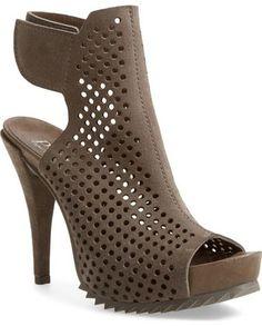 Pedro Garcia 'Persis' Perforated Suede Platform Sandal (Women)