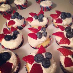 4th of July sugar-free cupcakes