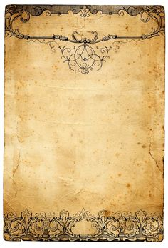 Photo: An old peice of paper with a retro victorian patern at the top and bottom