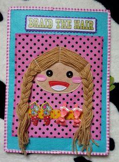 Quiet book, braid the hair