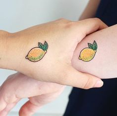 Matching lemons for friends!  #tattoo | WEBSTA - Instagram Analytics