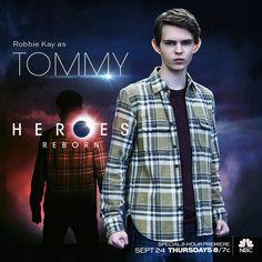 Robbie Kay as (Tommy) #HeroesReborn