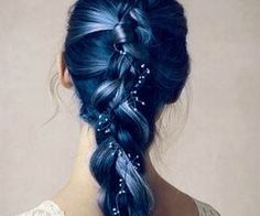 Too hard to up keep, but lovely as a fairy tale sort of way. blue hair