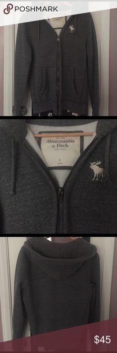 Ambercrombie & Fitch Sweatshirt Grey Hoodie, Excellent Condition Abercrombie & Fitch Shirts Sweatshirts & Hoodies