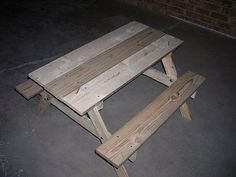 How to Child Sized Picnic Table Plans