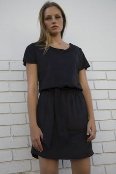 Suede Blouson Dress Black Short Sleeve Dresses, Dresses With Sleeves, Cape Town, Shirt Dress, T Shirt, Dress Black, Collection, Fashion, Supreme T Shirt