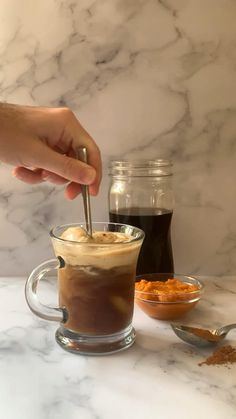Pumpkin Pie Spice, Pumpkin Puree, Iced Coffee At Home, Coffee Drink Recipes, Coffee Creamer, Fall Recipes, Dinner Recipes, Cold Brew, Other Recipes