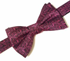 NEW Alfani Men's Hot Pink & Black Polyester Bow Tie Neckwear Adjustable Bowtie #Alfani #BowTie #Neckwear #MensFashion