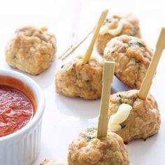 Chicken Parmesan Meatballs via Real Food by Dad