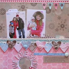 We love snow, Scrapbook Stamping: December 2011 - Two Peas in a Bucket