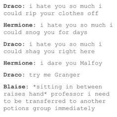 Sarcastic Dramione tumblr post | Poor Blaise 2 | Dramione ~ Draco ...