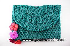 bolsa de croche bolsa de mão clutch crochet edinir-croche aprendercroche euroroma passo a passo curso de croche