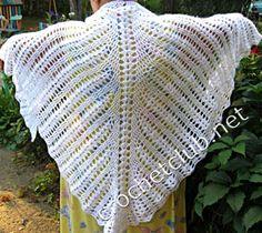 půlkruhový šátek háčkování