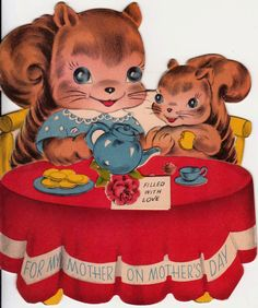 An adorable vintage Mother's Day card that's filled with love. #vintage #Mothers_Days