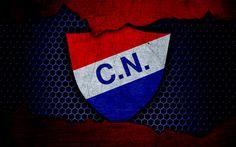 Download wallpapers Nacional Asuncion, 4k, logo, Paraguayan Primera Division, soccer, football club, Paraguay, grunge, metal texture, Nacional Asuncion FC