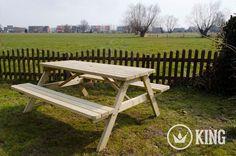 U zoekt een KING picknicktafel 1.80m?
