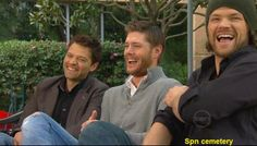 Misha, Jensen, Jared--would love to know what made them laugh!