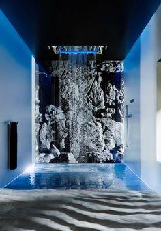 Douchen alsof je in de natuur staat. Sensory Sky Douche van Dornbracht (Stek Magazine badkamers april 2014) #interieur