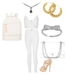 """""""party time"""" by candycheese2007 ❤ liked on Polyvore featuring Narciso Rodriguez, Quiz, Chanel and Want Les Essentiels de la Vie"""