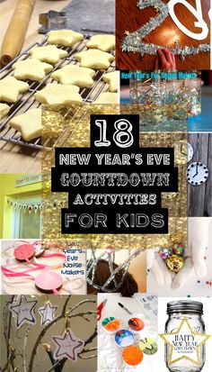 NEW YEAR'S EVE COUNTDOWN ACTIVITIES FOR KIDS we needed this last night!