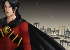 Red Robin - Gotham Night by Xinjay Tim Drake, Appreciation Post, Red Hood, Bat Family, Nightwing, Teen Titans, Gotham, Dc Comics, Robin