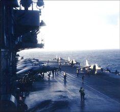 Sea Harriers aboard HMS Hermes during the Falklands War 1982